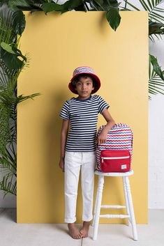 Youth Bucket Hat / Pop Quiz Kids Backpack – Mariner Stripe