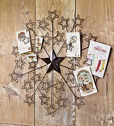 Create a unique display with your Christmas cards using this Star ...