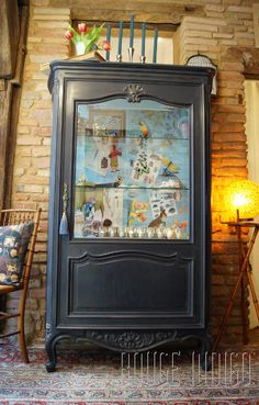 1000 images about meubles patin s on pinterest buffet - Papier peint sur meuble ...