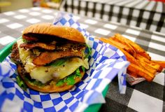Wholly Cow Burgers features delicious local grass-fed beef burgers and frito pie at their convenient store counter at 3010 S. Beef Burgers, Salmon Burgers, Frito Pie, Outdoor Food, Grass Fed Beef, Grubs, Grilling Recipes, Food Truck, Cow