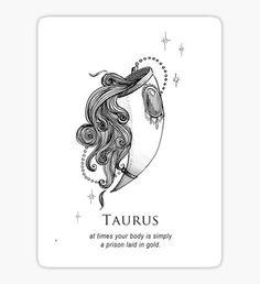 Taurus - Shitty Horoscopes Book VII: Magick Sticker Taurus Logo, Taurus Art, Sun In Taurus, Taurus And Scorpio, Astrology Taurus, Taurus Quotes, Horoscope Tattoos, Zodiac Sign Tattoos, Zodiac Symbols