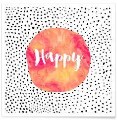 Happy en Affiche premium par Elisabeth Fredriksson | JUNIQE