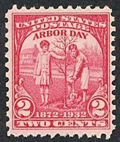 StampedeBeta-Stamp Design Contests - Stamp Profile - 1932 Arbor Day Issue 2 Cents
