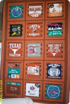 University of Texas Tee quilt made by Grandby's.