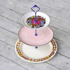Vintage China Cupcake Stand | charming