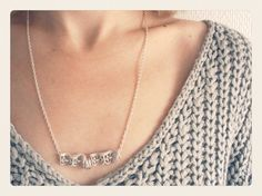 Silver Lace and Circles Necklace by SKRIN on Etsy, €15.00