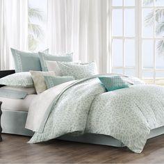 Coastal Design for master bedrooms - Mykonos Sea Breeze Aqua Comforter Bedding Set