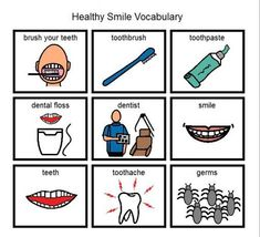 """""""Healthy Smile"""" picture vocabulary"""