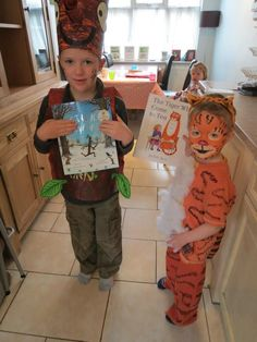 Stickman and tiger costumes  sc 1 st  Pinterest & Stick man costume for world book day | Book parade costume ...