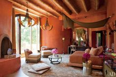 red stucco moroccan style home - Google Search