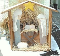 Outdoor Wood Nativity Set                                                                                                                                                                                 More