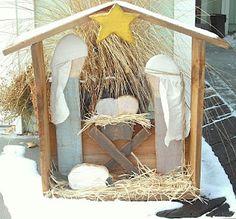 Outdoor Wood Nativity Set, Christmas Crafts