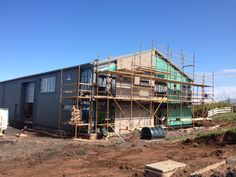 The new eco centre under construction 2012