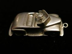 Rare Vintage Sterling Silver Antique Convertible Movable Car Charm.