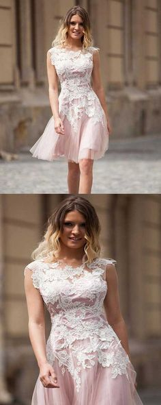light pink homecoming dresses,tulle homecoming dresses,fashion homecoming dresses,chic homecoming dresses,short homecoming dresses with lace appliques