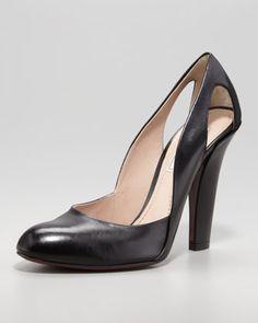 Nina Ricci Cutout-Heel Leather Pump