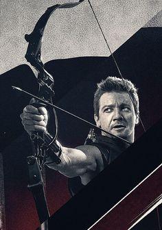 カッコいい!(´艸`*) #Hawkeye #AvengersAgeOfUltron #JeremyRenner