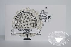 Yvonne is Stampin' & Scrapping: Stampin' Up! Travel card with Places You'll Go & Marrocan Nights #stampinup