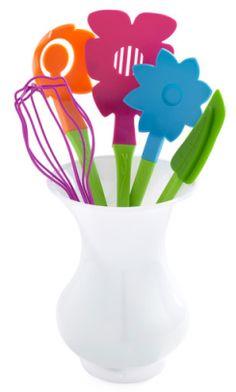 Fresh Skills Floral Cooking Utensil Set #Fun Kitchen Items