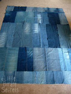 denim picnic blanket quilt-along - part 2 | Little Birdie Secrets - Part 3 piecing