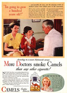 My, oh my, how times have changed. An ad that tells people to smoke in order to live longer.  Of course this was in a day without GMO's, pesticides, and chemical additives, but I'm still a skeptic.
