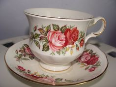 Queen Anne Bone China Teacup and Saucer  Pink by TheClassyLady, $22.00
