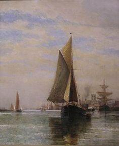 Frederick James Aldridge - Shipping off Shoreham 1.jpg (480×591)