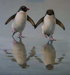 ビッチピッチチャップチャップ ランランラン!。  I just love penguins!!!!!