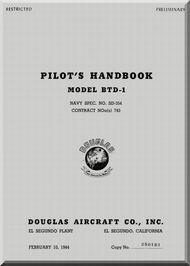 Douglas BTD-1 Aircraft Pilot's Handbook  Manual  , 1944