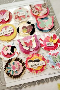 Embellishment layers and creativity. Love the details. For scrapbook and art.