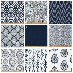 Vintage Indigo Navy Blue Pillow Covers, 14x14, 16x16, 18x18, 20x20, 22x22, 24x24, Euro Pillow Covers, Navy Accent Pillows, Blue Throw Pillow