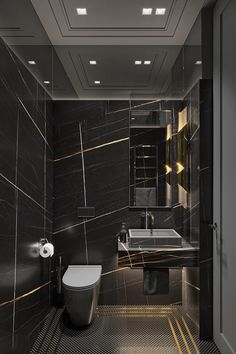 Superb Black Marble Bathroom Design Ideas Looks Classy 34 Washroom Design, Bathroom Design Luxury, Modern Bathroom Design, Black Marble Bathroom, Small Bathroom, Small Luxury Bathrooms, Bathroom Bath, Master Bathroom, Home Room Design