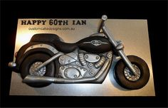 Motorbike Cake - cake by Custom Cake Designs Birthday Cakes For Men, Car Cakes For Men, Happy Birthday Girls, 18th Birthday Party Outfit, Princess Birthday Party Decorations, Birthday Party Desserts, Motorcycle Party, Motorcycle Cake, 70th Birthday Invitations
