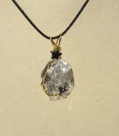 Wire wrapped herkimer diamond pendant diamond pendant wire and wire wrapped herkimer diamond pendant aloadofball Image collections