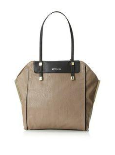 51% OFF Kenneth Cole Reaction Women's Stack Exchange Shopper Shoulder Bag (mushroom/black)