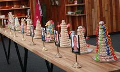 The finished marzipan ring cakes in the Danish version of Bake Off