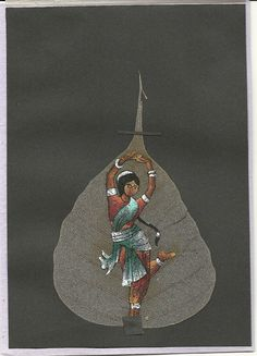 The Dancer  Handpainted ona real leaf Collectible by museumshop, $15.00  The Dancing Girl  Painted on a real leaf.  Collectible leaf art.