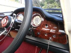 2017-- the refurbished burr walnut dash in my 1965 Wolseley 24/80 Mk11. The 6 cyl. Australian made version of the 16/60