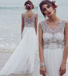 51 beach wedding dresses perfect for destination weddings v neck beading beach wedding dresses for bridal junglespirit Images
