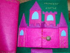 Princess Quiet Book with castle, bakery, garden, and wardrobe.