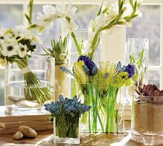 24 Wonderful Ways To Decorate Your Home With Flowers Rectangle Vase, Spring Home  Decor,