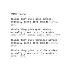 MBTI and advice