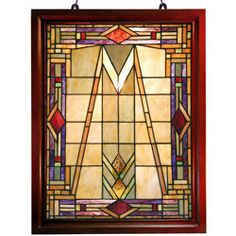 @Overstock.com - Tiffany-style Mission Glass Window Panel - Elegant Mission glass window panel has been handcrafted using methods first developed by Louis Comfort TiffanyWindow panel contains 247 hand-cut pieces of stained glassLighting includes hanging hardware for easy use  http://www.overstock.com/Home-Garden/Tiffany-style-Mission-Glass-Window-Panel/1996843/product.html?CID=214117 $114.99