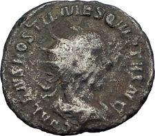 HOSTILIAN son of Trajan Decius 251AD Rome Ancient Silver Roman Coin MARS i65571