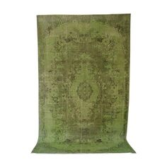 Vintage Green Over Dyed Turkish Rug Retro Furniture, Antique Furniture, Mid Century Furniture, Vintage Green, Outdoor Blanket, Rugs, Antiques, Decor, Farmhouse Rugs
