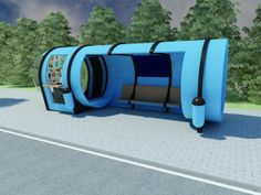 Bus STOP conceptual design by Dimcho Ganchev, via Behance