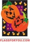 Applique - Pumpkins Candy Corn House Flag