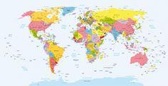 Fotomural Mapa mundi politico. Mural Mapa mundi politico