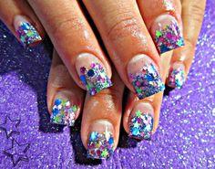 Confetti nail art :)