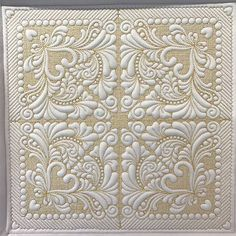 Embroidery Designs Ideas Stitch Delight: Feather Quilt Set All Design Sets, Machine Embroidery Quilts, Machine Quilting Patterns, Longarm Quilting, Free Motion Quilting, Machine Embroidery Designs, Quilt Patterns, Textile Patterns, Embroidery Ideas, Quilt Set